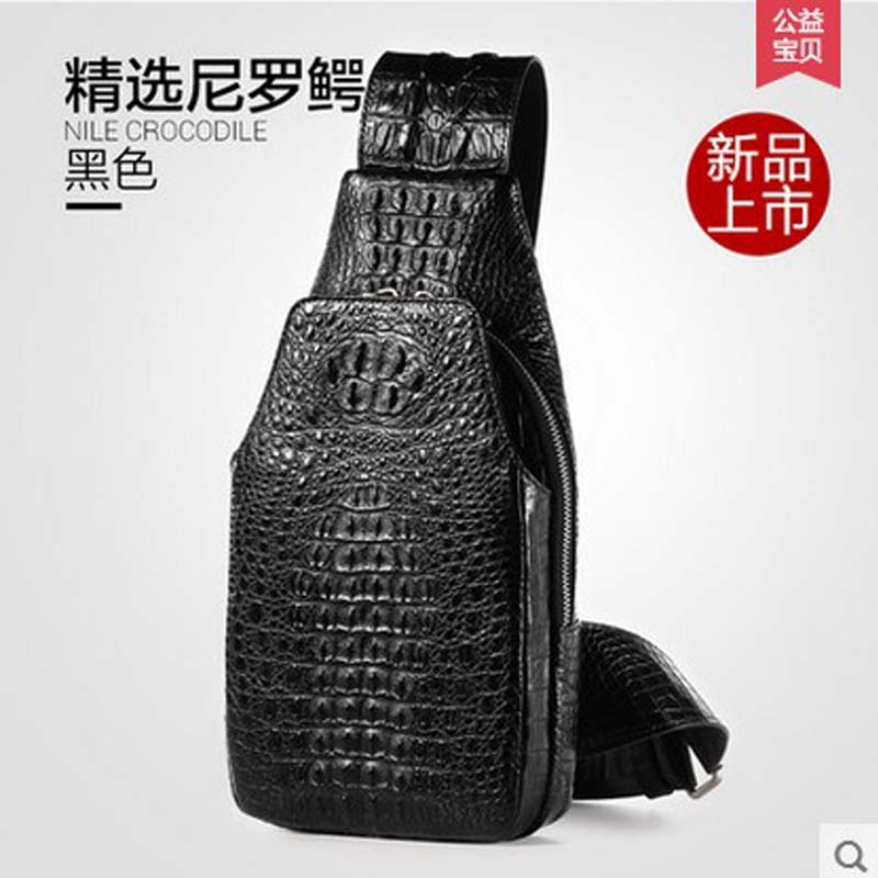 Gete crocodile chest bag men singles shoulder bag man inclined bag fashion leisure male  crocodile leather men chest bag phil collins singles 4 lp