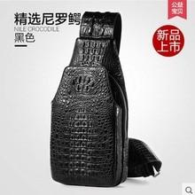 Gete crocodile chest bag men singles shoulder bag man inclined bag fashion leisure male crocodile leather men chest bag