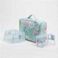 Genuine Women Cosmetic Bag Large Capacity Storage Bag Handbag Bag Small Portable Waterproof Travel Organizer Makeup