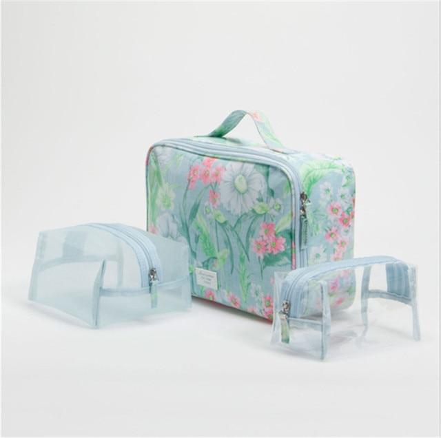 Genuine Women Cosmetic Bag Large Capacity Storage Bag Handbag Bag Small Portable Waterproof Travel Organizer Makeup Bag