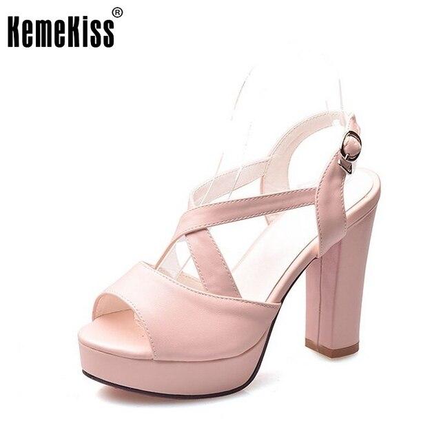 7f2beae74 Mulheres sapatos de plataforma de moda sandálias cinta cruz sexy calçados saltos  mulher zíper cor pura