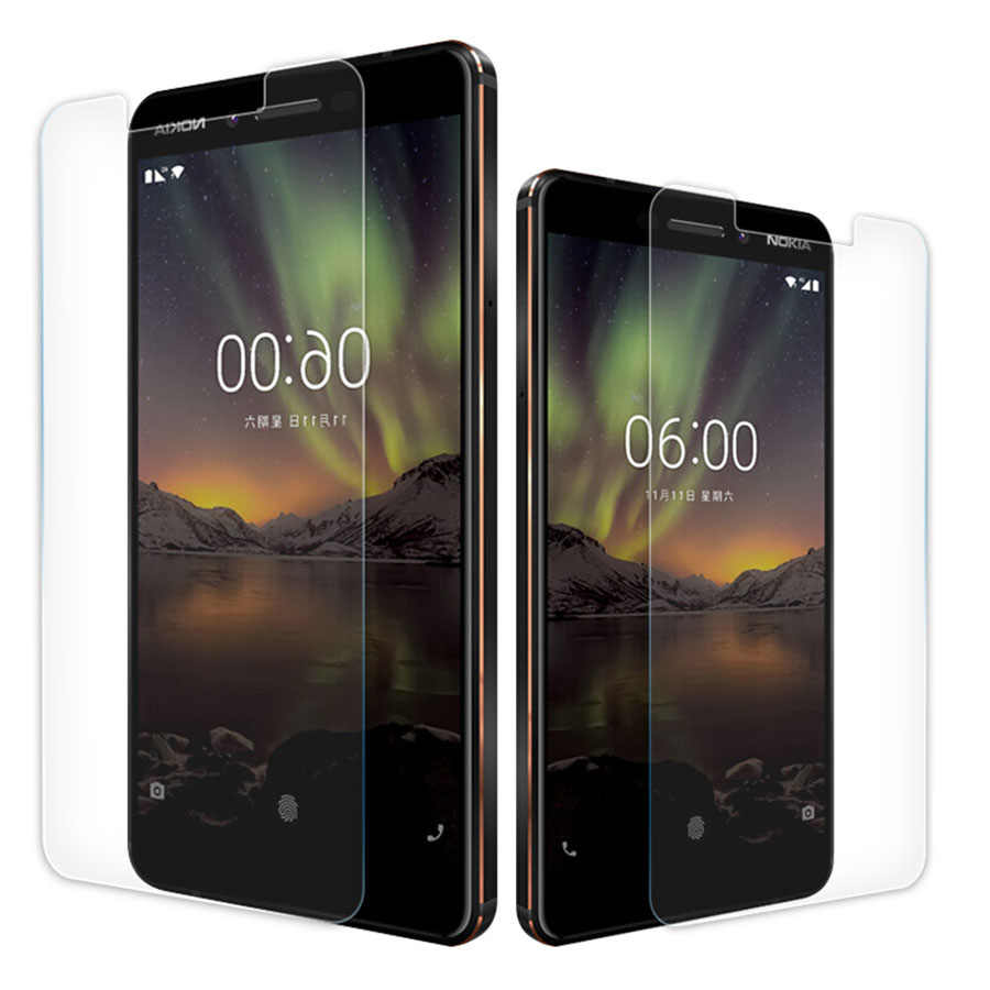 Tempered glass For Nokia 6 2018 Screen protector phone protection flim for Nokia X6 X5 9 2.1 3.1 5.1 5.1plus 6.16.1plus 6 2018