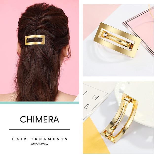 Купить металлическая заколка для волос chimera простая золотая арка
