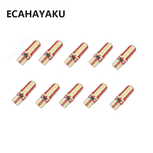 ECAHAYAKU 10 PCS 24 SMD 4014 led car light 12V w5w T10 auto cob externa clearance bulb door reading lamp turn signal