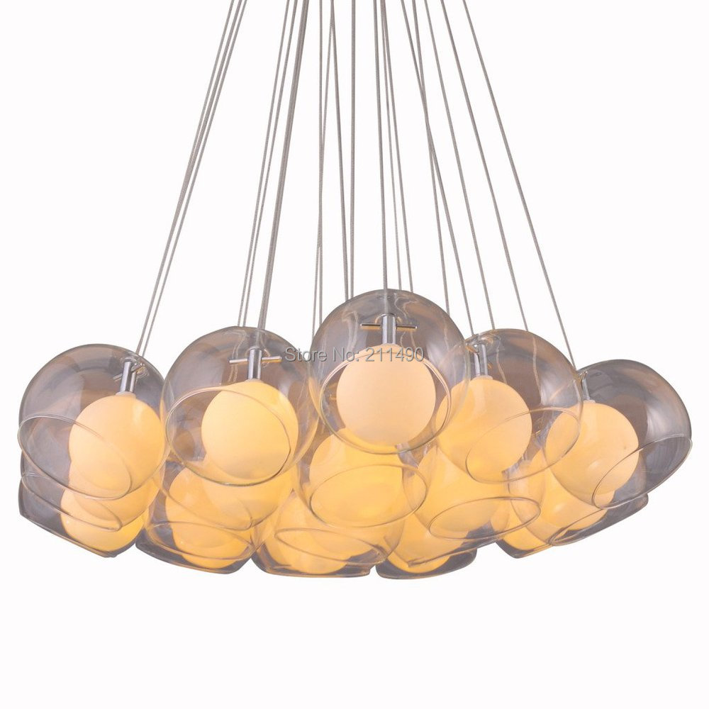 Art Deco Glass Ball Shade Large Pendant Light Max 190W With 19 Lights glass deco glass deco s l5