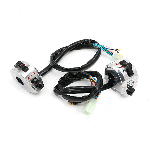 Universal 7/8″ 22mm Motorcycle Bike Handle Bar Switches Control Light Switch Indicator For KTM Yamaha Honda Suzuki Cafe Racer