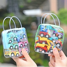 6pcs/set Toys Car Models Classic Boy Girl Truck Vehicle Kids Child Toy Mini Small Pull Back Car Toys For Toddler Children Gift