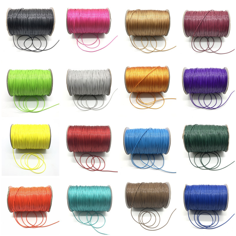 10 Meter/Lot 1.0mm Waxed Cord Thread String Strap Necklace Rope Bead For Jewelry Making DIY Bracelet Necklace