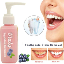 30/100ML Pressed Toothpaste Stain Removal Whitening Blueberry Fight Bleeding Gums Teeth Tool
