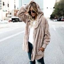 купить 2018 Autumn Winter New Women Plus Size Hooded Cardigan Pockets Long Sleeve Casual Sweaters Female Solid Oversize Loose Coat дешево