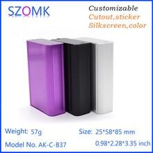 1 piece  85x58x25mm Aluminium electronics pcb box cabinet szomk aluminum enclosures