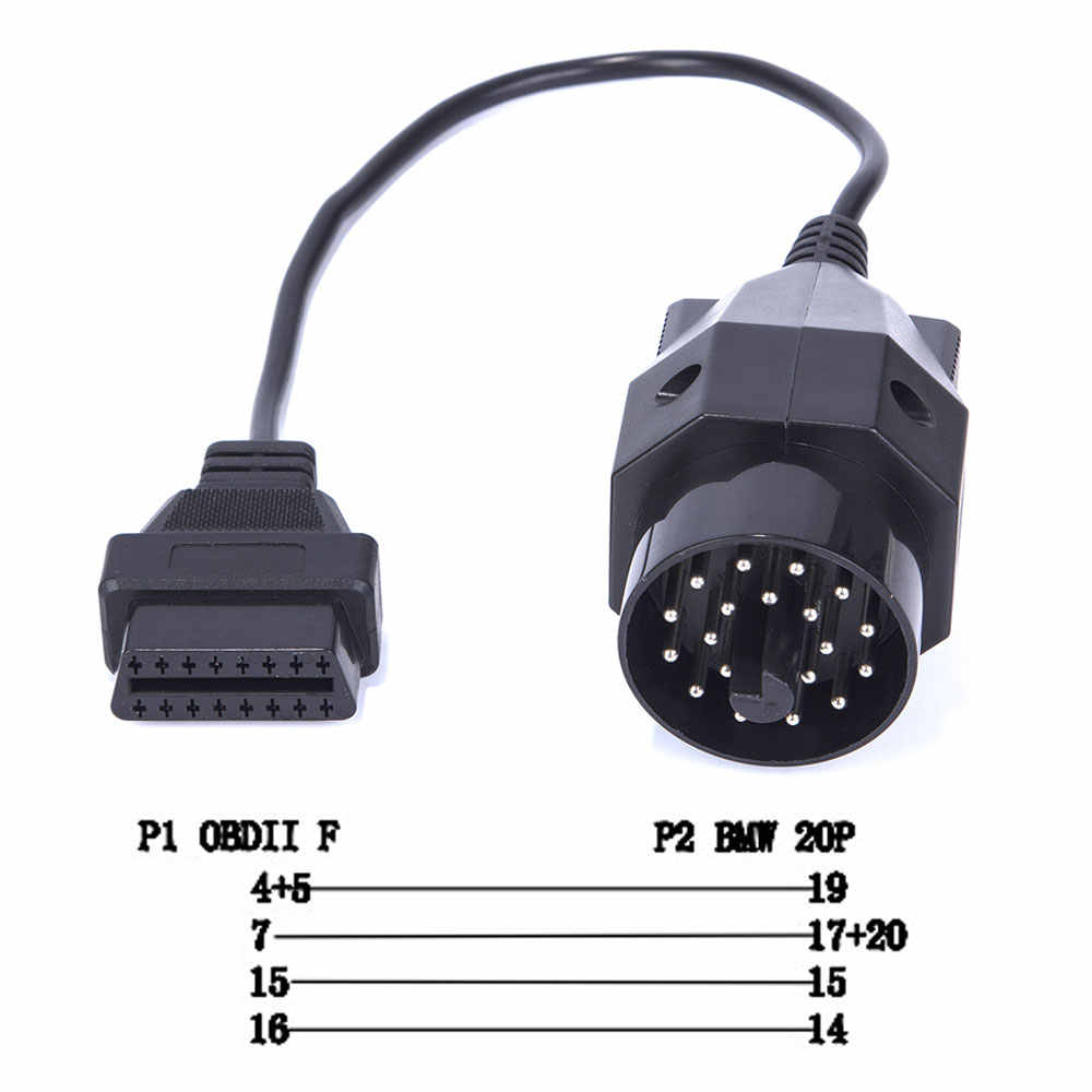 For BMW Scanner 1 4 0 Code Reader Scan Tool OBD 20pin OBDII Ddiagnistic  Adapter Cable E Chassis E38 E39 E46 E52 E53 E83 E85
