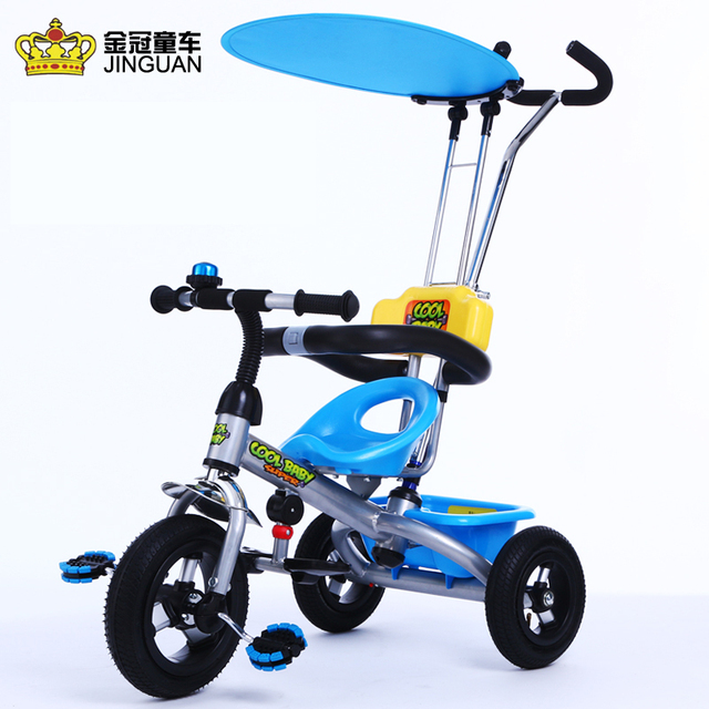 534b149e7a0 Blue child tricycle bike 1-3-5-2-year-old child tricycle baby stroller children  bicycle friendly materials pneumatic wheels