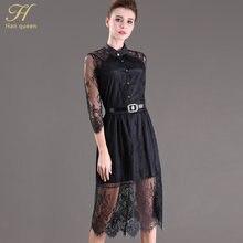 3824d9fccfd S-5XL vente D été Robes Évider Femmes Manches Demi Taille Élastique Floral  Crochet Casual noir Dentelle Robe Femininas Robes