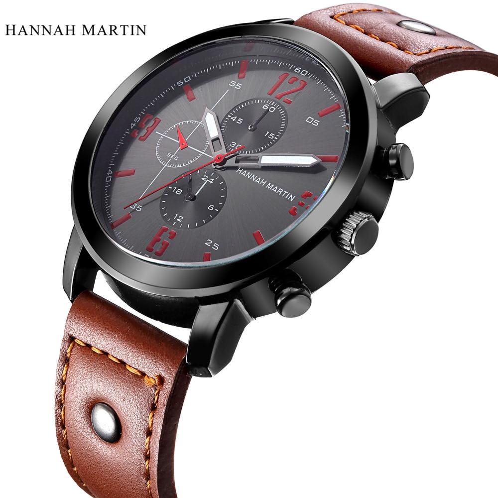 Hannah Martin Mens Uita-te la Brand Sport de lux Quartz-Watch ceasuri - Ceasuri bărbați