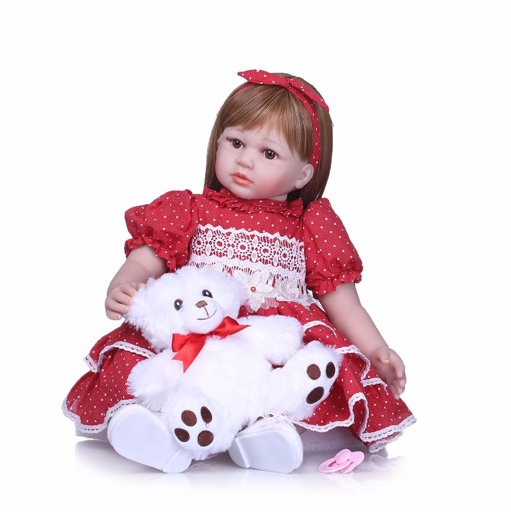 NPK Lovely 22 Inch Reborn Baby Doll Toy Real Like Girl Soft Silicone Reborn Babies Alive bebe Cloth Body Reborn Boneca Doll 16 inch lifelike reborn baby dolls girl gifts soft silicone toy alive simulation toddler babies doll lovely wear pink dress bebe