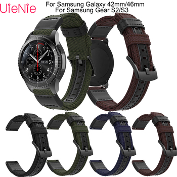 20 22 mm Strap For Samsung Gear S3/Galaxy 46mm frontier/classic wristband For Samsung Gear S2/Galaxy 42mm smart watch bracelet 20mm luxury leather strap for samsung gear sport s2 watch band classic frontier wristband for samsung galaxy 42mm bracelet strap