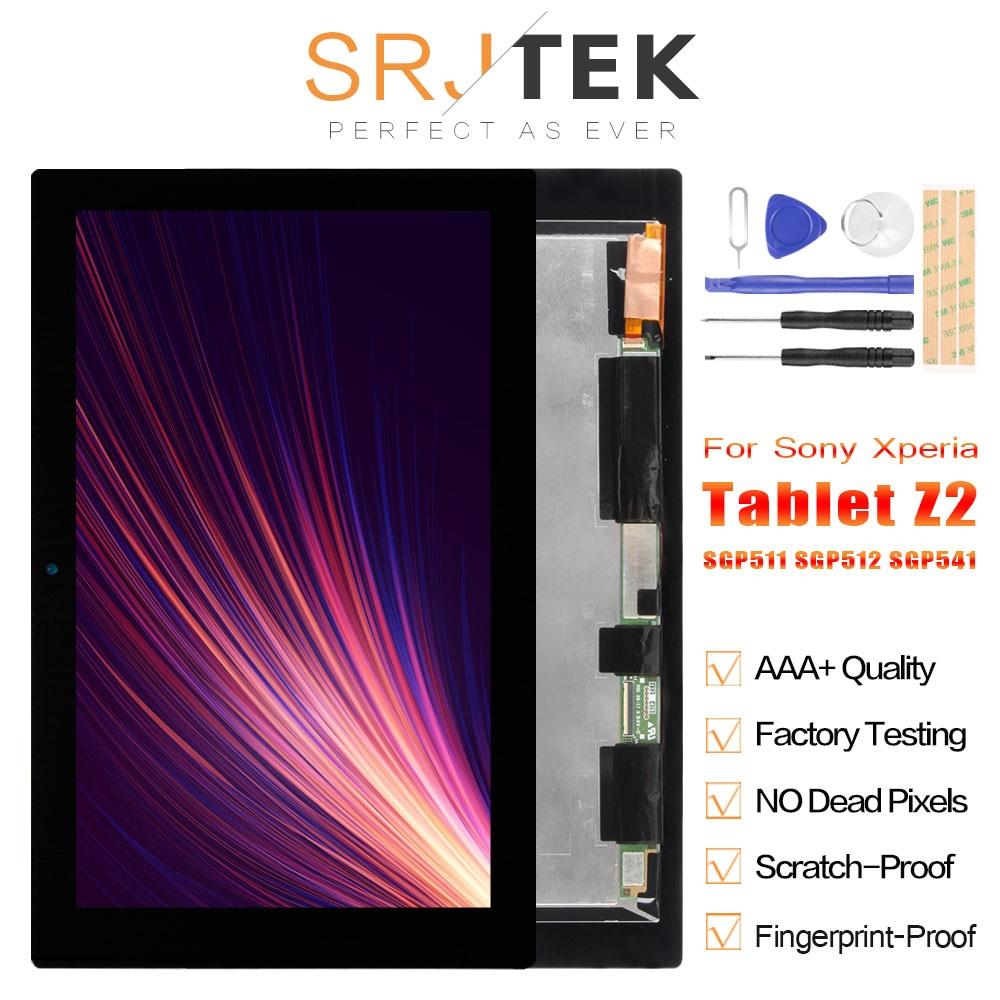 SRJTEK Tablet Z2 LCD For Sony Xperia Tablet Z2 SGP521 Display Touch Digitizer Screen Replacement SGP511 SGP512 SGP541 LCD Matrix