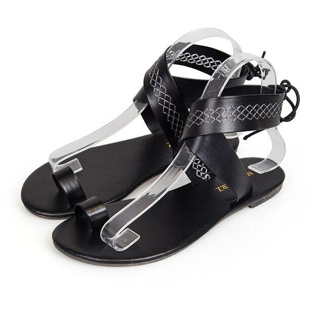 c1b8972140393e Gladiator Sandal 2018 Shoes Woman Flat Ladies Shoes Black Shoes Women Flip  Flops ladies fancy sandal Plus Size