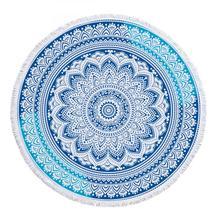 Indian Round Mandala Microfiber Towel Beach Tapestry Wall Hanging YoGa Mat Decor Boho Style Sunbath 2019