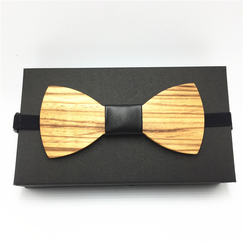 2018 Hot Fashion Mens Wooden Bow Tie Accessory Wedding Party Christmas Gifts Bamboo Wood Bowtie Neck Wear for Men Women cravat