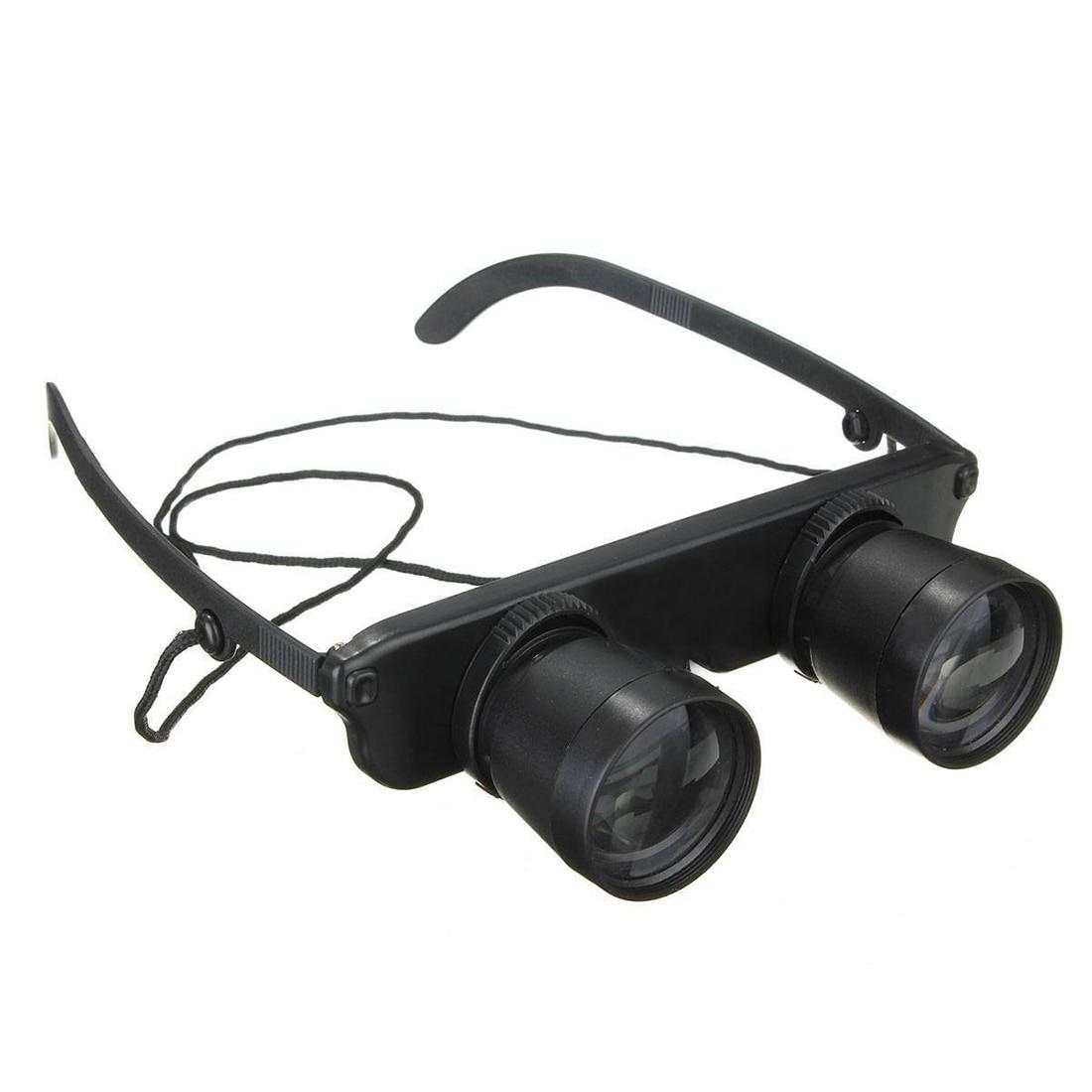 Schwarz 3x28 Brille Vergroesserungsglas Lupenbrille Brillenlupe Glaeser Stil Angel Reise Fernglas Theater Lup Fisch Optics