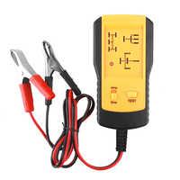 Giallo Universale 12V Relè Automotive Tester Relè Dispositivo di Prova Auto Rilevatore di Batteria Accurate Diagnostico Meter