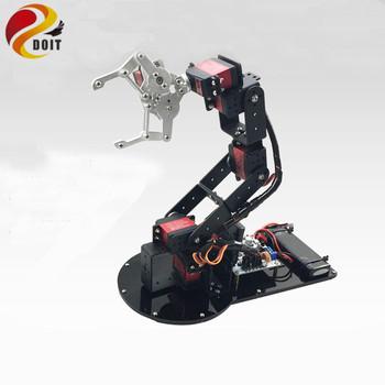 6 Dof metalowe mechaniczne ramię manipulatora pełny zestaw metalowa konstrukcja + 1 sztuk Metal mechaniczne pazur + 6 sztuk wysoki moment obrotowy serwo tanie i dobre opinie 12-15 lat 8 lat Dorośli 14 lat Żołnierz części i podzespoły elektroniczne Chiny Montaż montażu Roboty Model