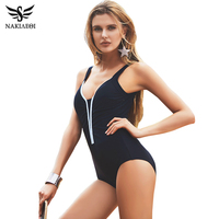 One Piece Swimsuit Women 2016 Fashion Vintage Plus Size Swimwear Swim Suit Maillot De Bain High