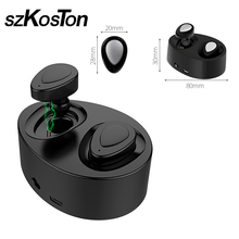 Twins Mini Wireless Bluetooth Headsets In-ear Binaural Portable Rechargeable Earphones Stereo Earbuds with charger box Earphone
