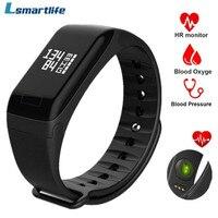 Lsmartlife Original F1 Smart band Wristband Sport Watch Intelligent Bracelet Call Reminder Step Pulse Heart Rate Monitor