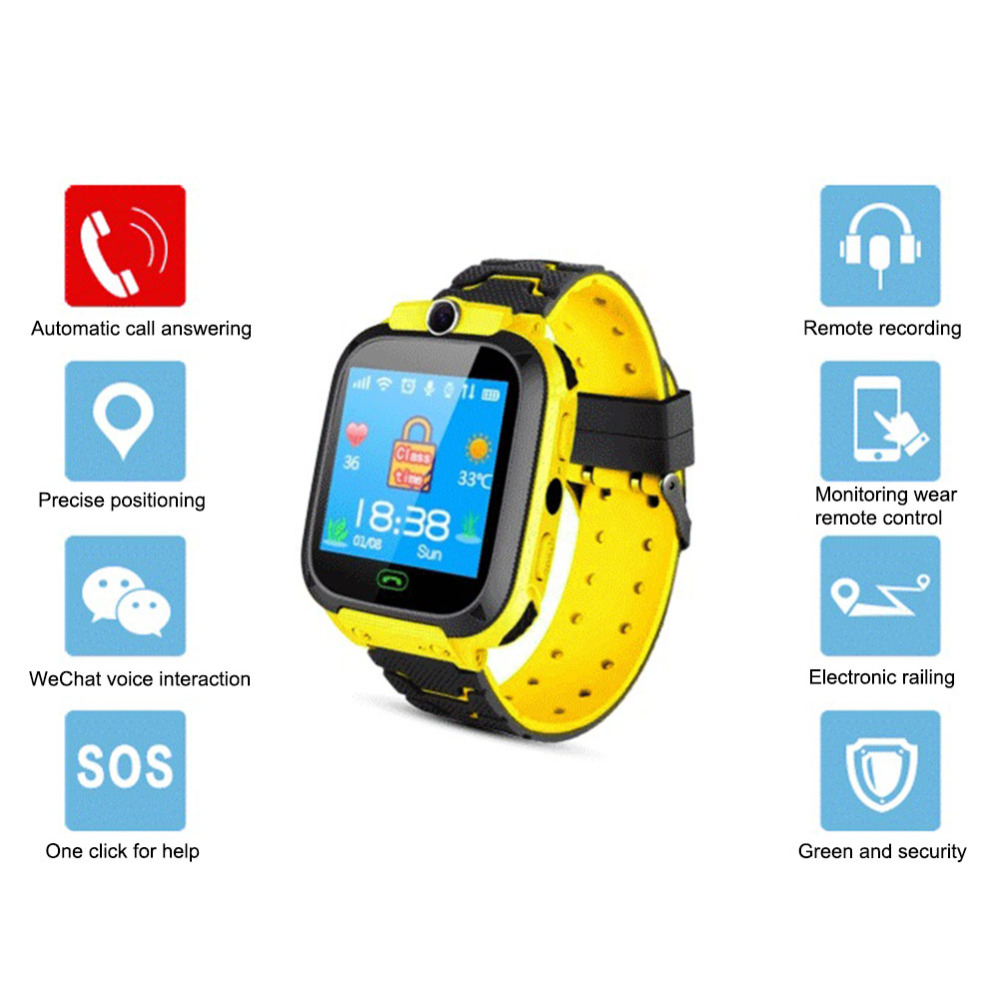 Camera Emergency Wrist-Watch Position-Phone Sports Waterproof Smart Children Kid SOS