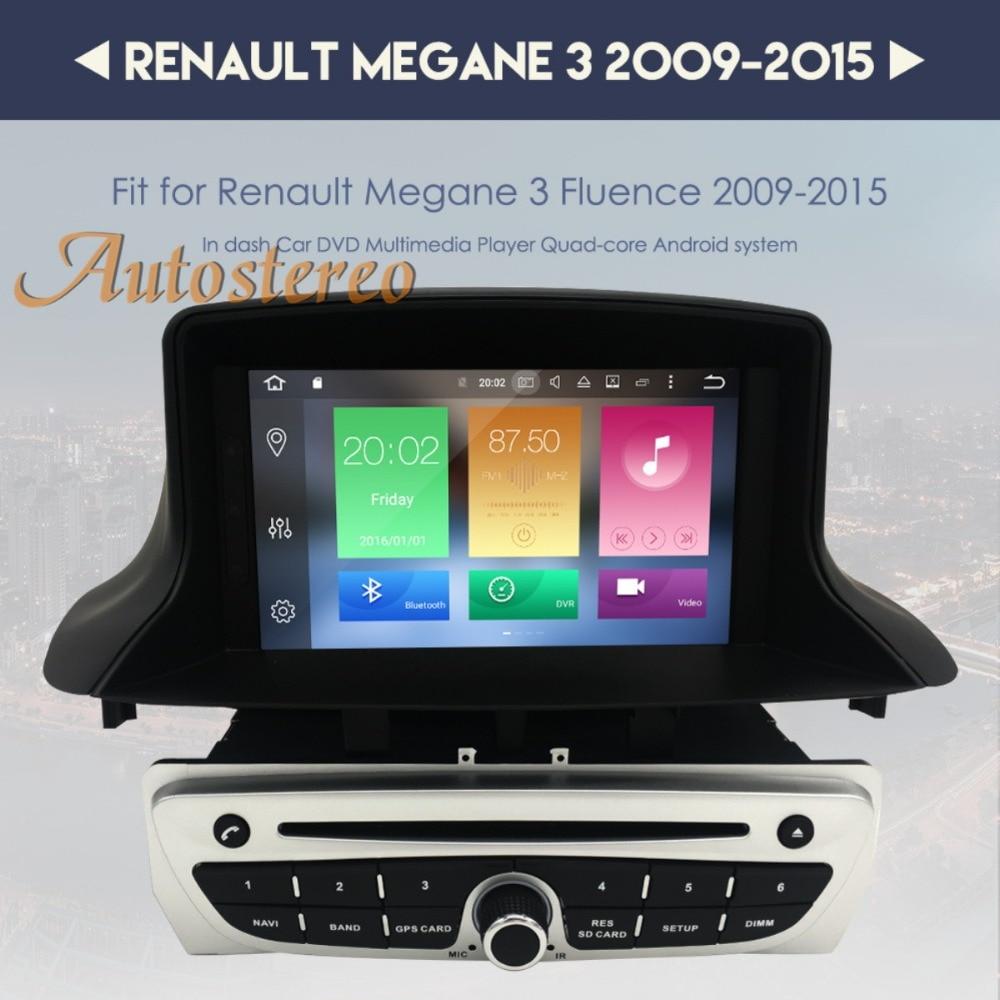 Android8 4G RAM Android7 Car DVD CD Player for Renault Megane 3 Fluence 2009-2015 Car GPS Satnav car stereo unit GPS navigation