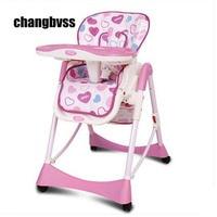 Ребенок ест стул регулируемый детский стульчик для кормления, ребенок Портативный стул сиденье складной