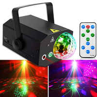 16 in 1 Pattern 10W Laser Projector Light Party Lights DJ Disco Stage Lights for Christmas Dancing Thanksgiving KTV Bar Birthday