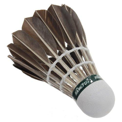 ELOS-12pcs Training Goose Feather Badminton Balls Game Sport