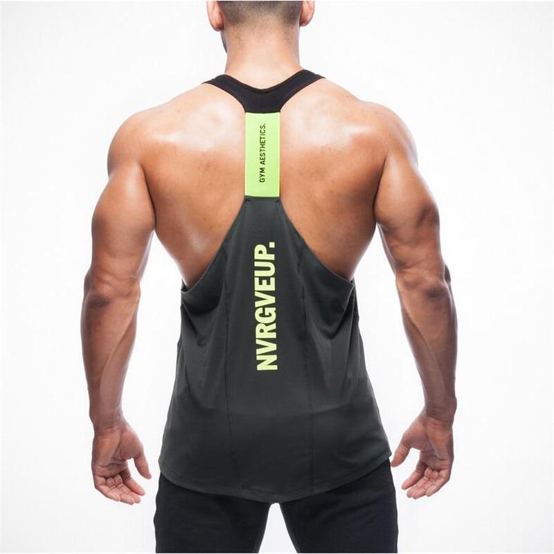 2018-2019 mode hohe qualität marke kleidung männer weste stringer bodybuilding fitness mann tank top kleidung Tanktops M L XL XXL