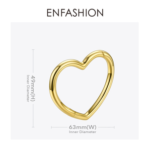 Image 4 - ENFASHION Heart Cuff Bangles For Women Accessories Gold Color Brass Bracelets Fashion Jewelry Friends Gifts 2020 Pulseira BC2006