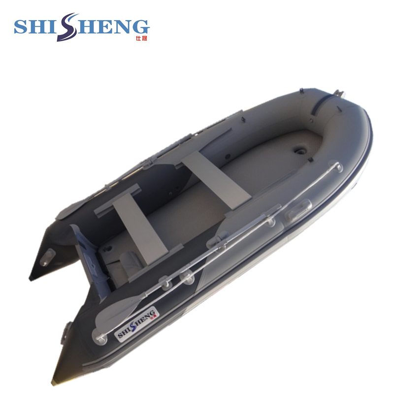 Foldable PVC font b Fishing b font Boat Inflatable rubber boat with air mat floor