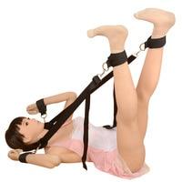 Easy Open Leg Sexy Bondage Belt For Couples Fetish Slave Roleplay SM Game Harness Kit Neck