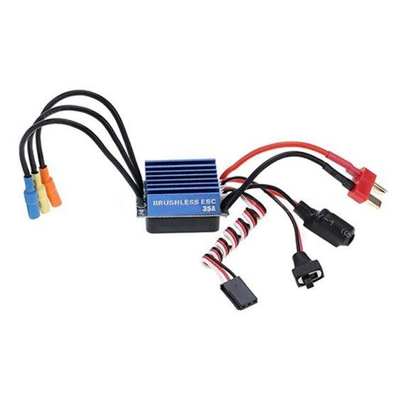 New 2838 4500KV 4P Sensorless Brushless Motor+35A ESC for 1/14 1/16 1/18 RC Car H2O9 new 2838 4500kv 4p sensorless brushless