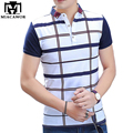 2017 New Brand Design Men Plaid POLO Shirt  Summer Short-sleeve Polo Homme Slim Fit Cotton Camisa Polo Men MT498