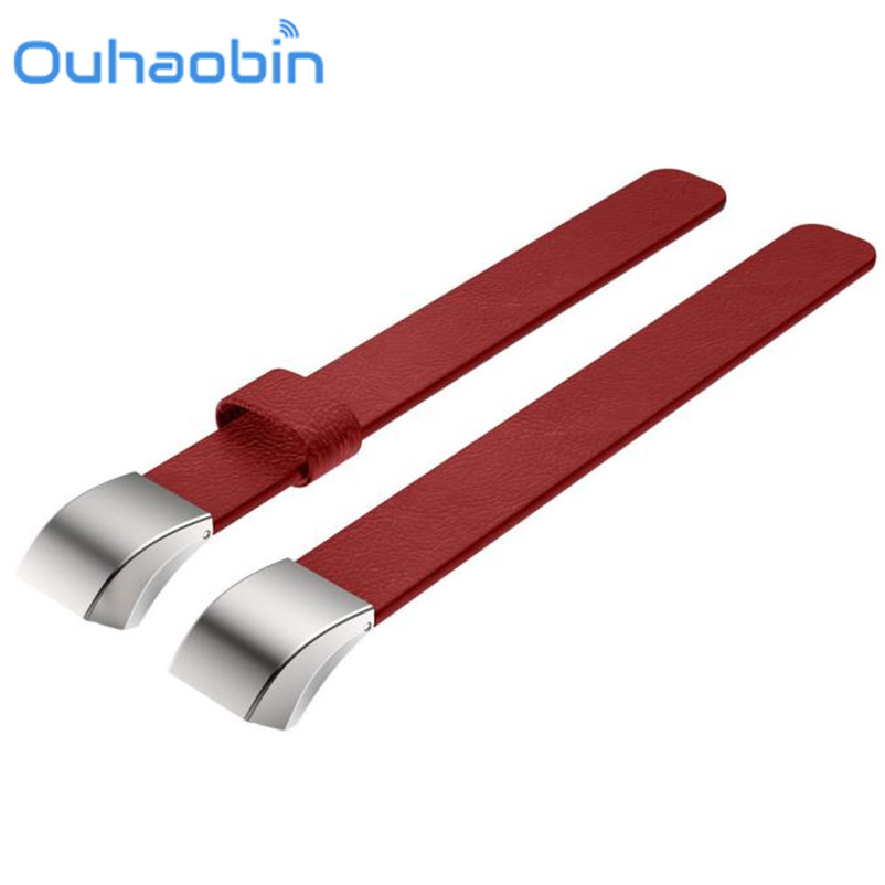 Ouhaobin Luxury Magnetic Loop Genuine Leather Band Strap Bracelet For Fitbit Alta Tracker Gift Sep 25 Dropshipping/wholesale