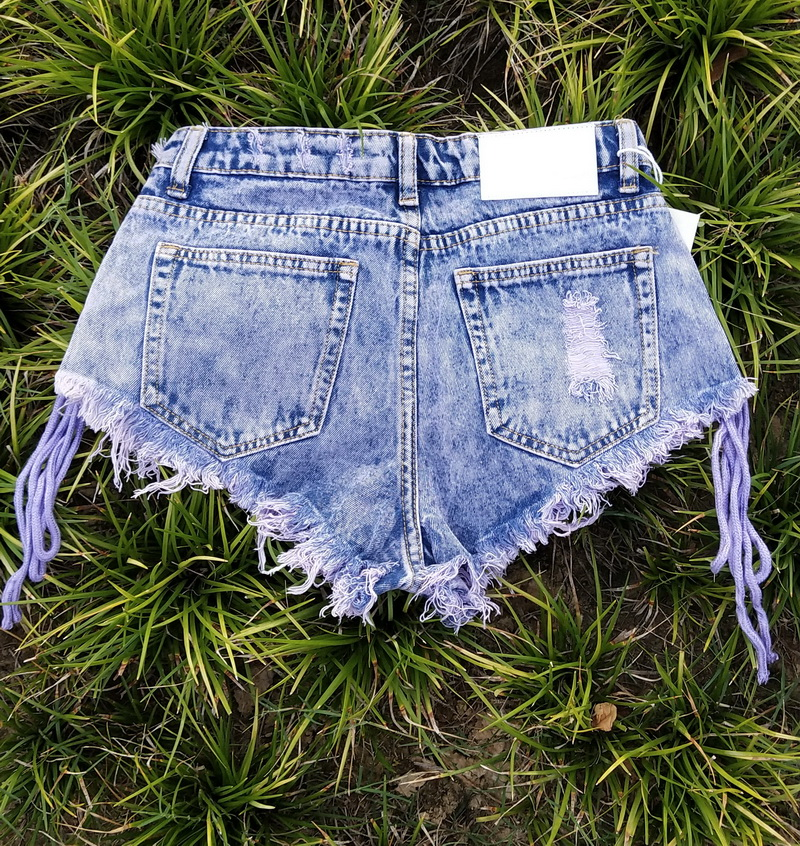 New Highwaisted Mini Jeans Shorts Women Both Side Tie Mini Short Sexy Denim Shorts Jeans Skinny Jeans Woman  Ropa Casual Mujer 2