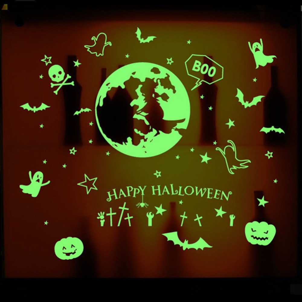 Witch terror ghost Night lighting fluorescent green for kids room ...