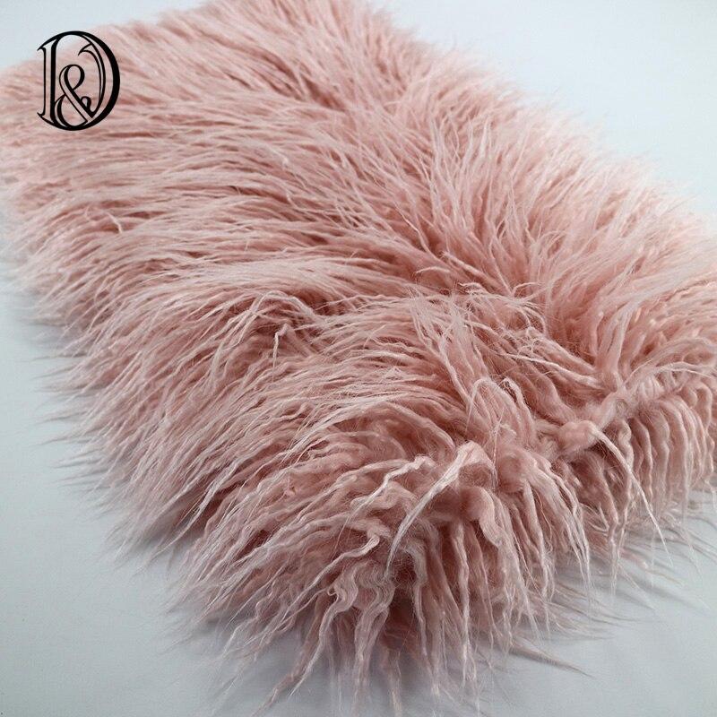 (100*75cm) Faux Fur MONGOLIAN FUR Blanket Basket Stuffer Photography Props Newborn Photography Props