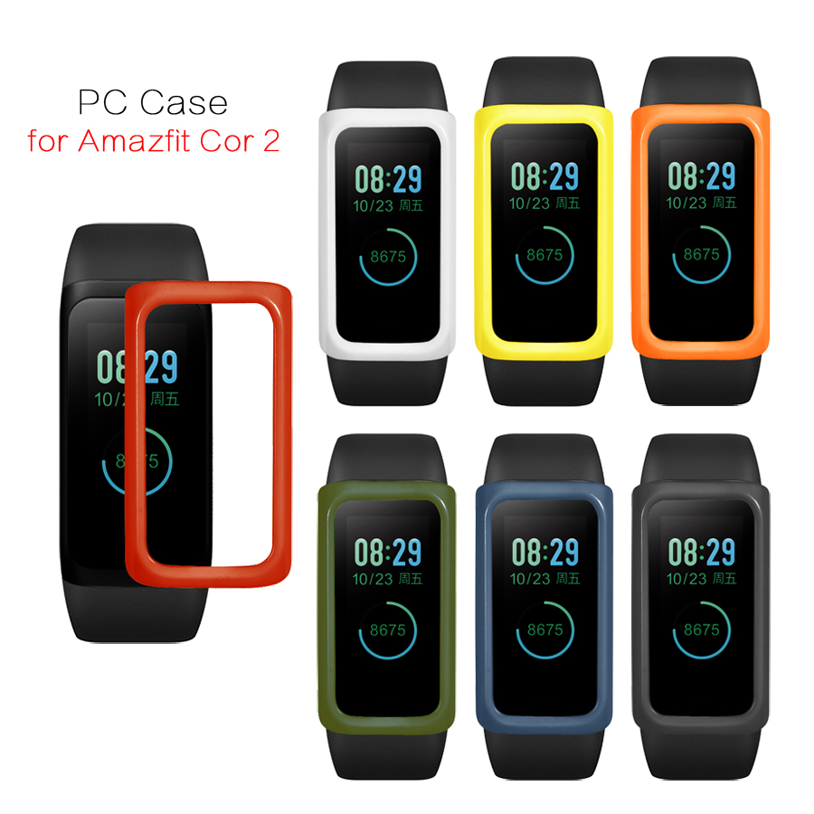 Protective Case for Xiaomi <font><b>Huami</b></font> <font><b>Amazfit</b></font> <font><b>Cor</b></font> <font><b>2</b></font> Band PC Cover Frame Shell Protector for <font><b>Amazfit</b></font> <font><b>Cor</b></font> <font><b>2</b></font> Smart Wristband Accessories image