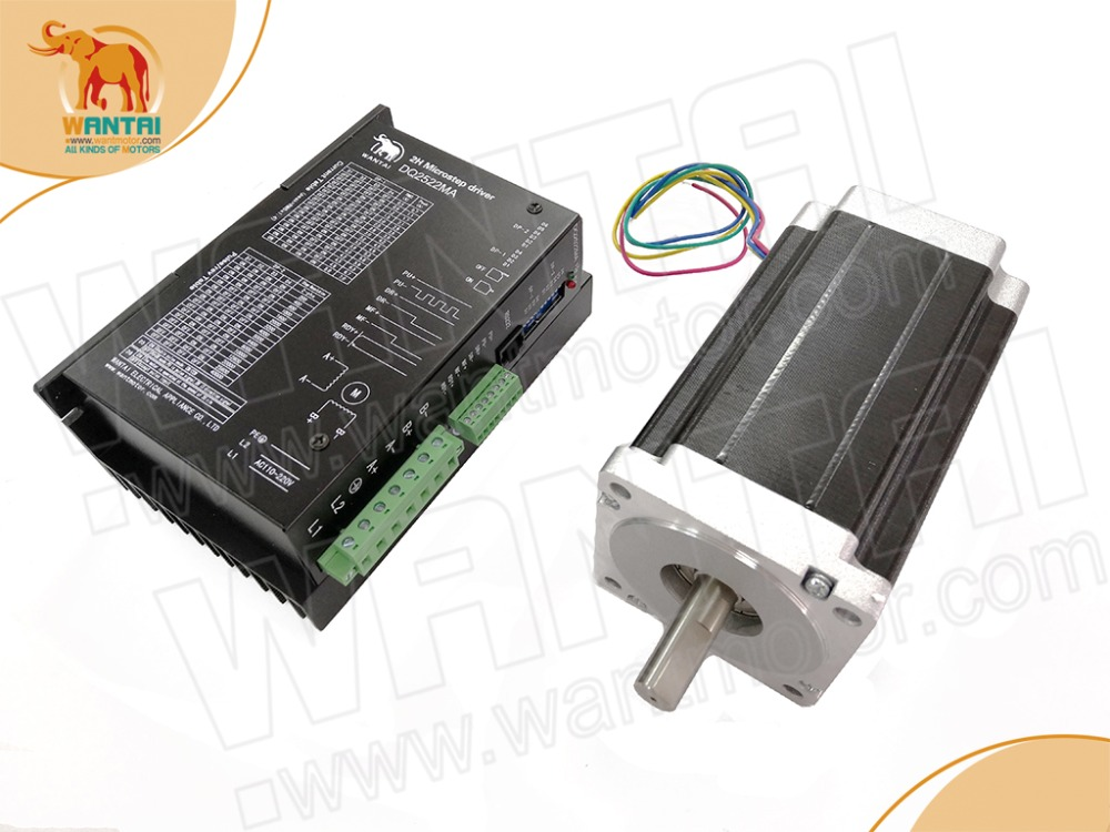 New arrival! 1Axis cnc router Nema34 12N.m(1700oz in) 6A Stepper Motor 85BYGH450C 060 & Driver DQ2522MA 110V 220V 256Micro