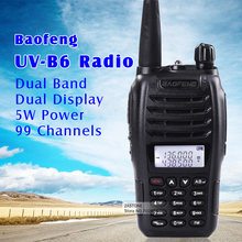 Black BaoFeng portable radio UV-B6 Dual Band UHF VHF Two Way Radio 136-174MHz&400-470 MHz Walkie Talkie hf Radio Transceiver(China)
