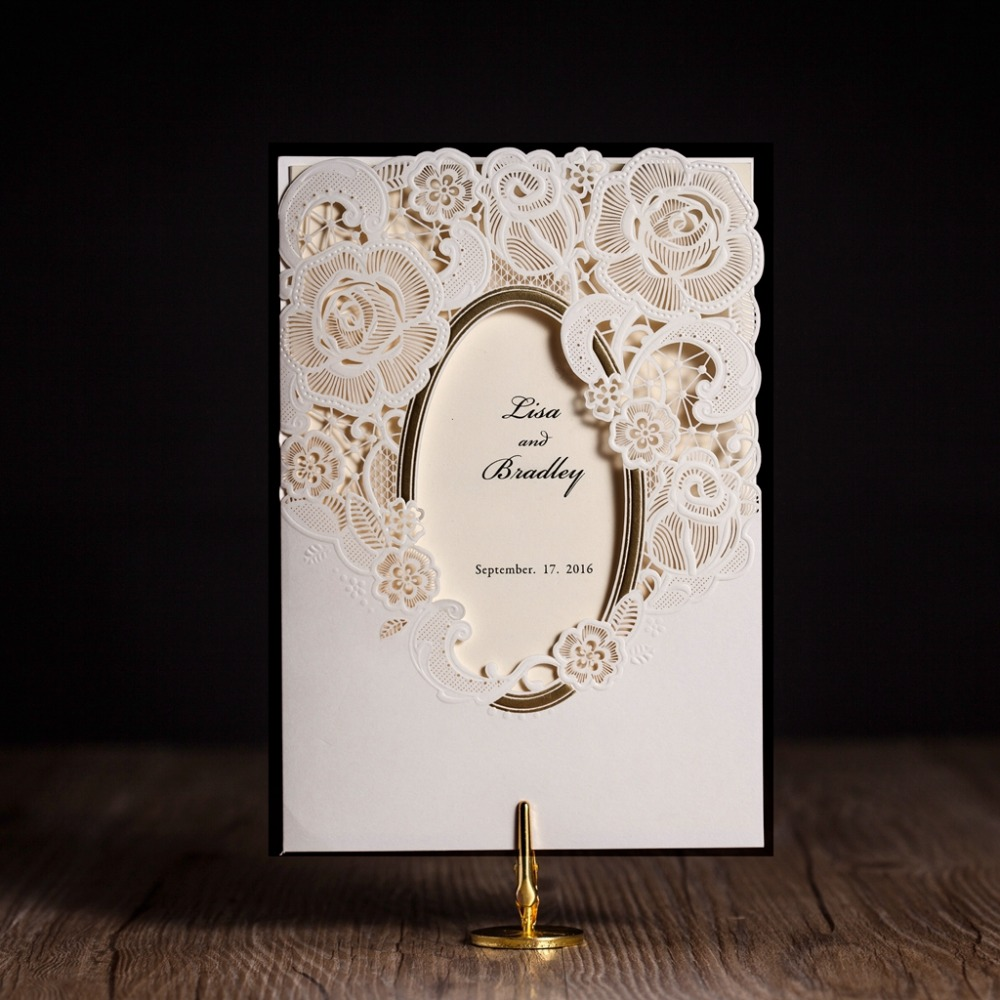 Invitation Wedding Card: Aliexpress.com : Buy WISHMADE Cw5185 White Royal Wedding